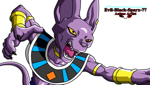 Beerus attacking by Evil-Black-Sparx-77