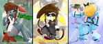 Youtubers as Pokemon :: Genderbent Edition by PikaIsCool