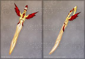 Flaming Bird Swords by Rittik-Designs