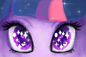 Princess Twilight Sparkle Eyes by SleepyHeadKL