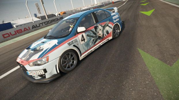 Project CARS Mitsubishi Evo Kancolle Livery 1 by blazeLimit