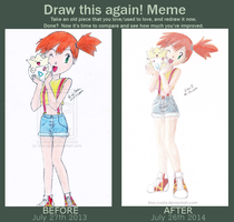 Draw This Again - Misty and Togepi by lina-costa