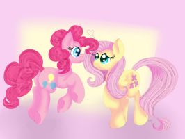 Pink Sprinkled Butterflies by Tuxisthename