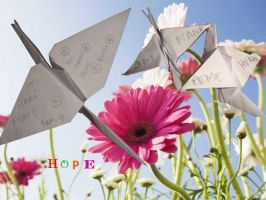 Origami 4 Japan Hope by Melwon