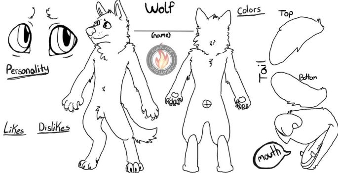 Wolf Ref Blank Free To Use by FireStar810