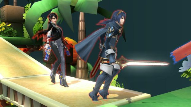 Lucina and Bayonetta by user15432