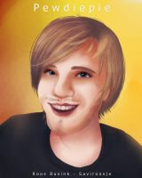 PewDiePie Cute + speedpaint video by Saviroosje