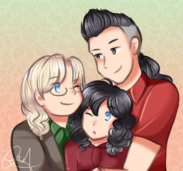 (COMMISSION)- DubCor and Family by SmartasticalArt