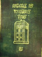 HOME IS WHERE THE TARDIS IS by kookookitty