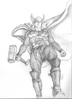 Thor rough for painting by Meador