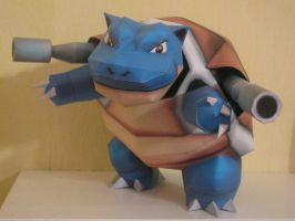 Pokemon Papercraft - Blastoise by x0xChelseax0x