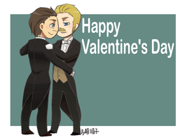 Happy Valentine's Day_Holmes+Watson by aulauly7