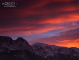 Sunset in Mountains by adunio-photos