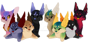 Cinidae Baby Cluster Batch: OTA CLOSED by Arccyfox