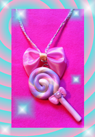 Sweet Lolita Kawaii Lolipop Necklace by Pippin-chan