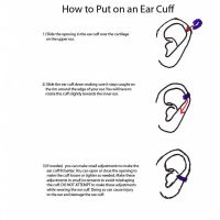 How to Wear an Earcuff by sylva