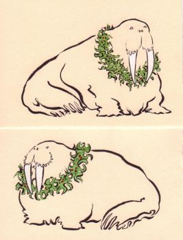 On the Second day of Walrusmas by Quilsnap