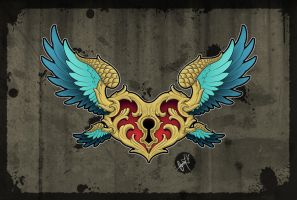 Flying Guardian - Tattoo Design by SugarSkullCandy