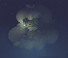 shiny whimsicott by functioningat86