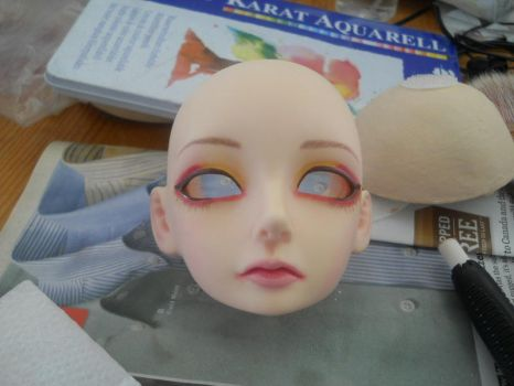 Elena with hand sculpted wig cap... by theillidarii