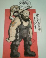 Ambrose and Big Show by suicidalassassin