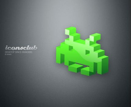 Desktop Space Invaders Iconset by IconsClub
