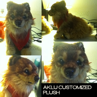 Aklu Custom plush WIP. by AgentWhiteHawk