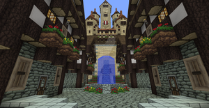 Minecraft Castle Town by UNDEADWARRIOR7411