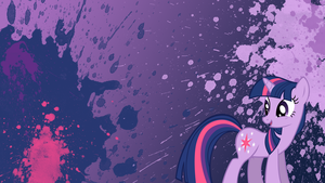 Twilight Sparkle Splatter Wallpaper by brightrai
