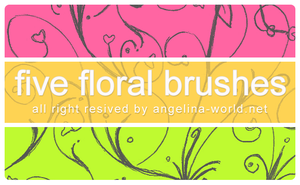 FIVE Floral Brushes by angelina1