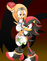 Shadow and Mari: Chaos Emeralds by SpitFireLex