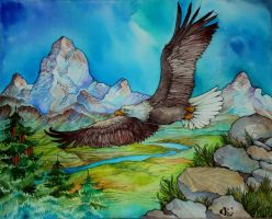 .:Commission - Eagle in the sky:. by 25Nanao16
