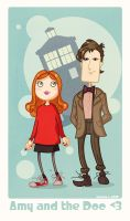 Amy Pond and The Doctor by martinacecilia