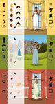 Jane Austen Dress Up App Screenshots by frivolousdistinction