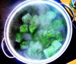 cooking spinach by Mittelfranke