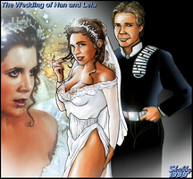 The Wedding of Han and Leia by Shabby-Blue