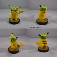 Pikachu Green Headband Amiibo by ChibiSilverWings