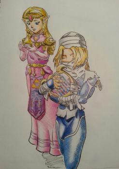 Zelda and Sheik by dragonkitteh