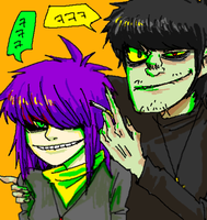 Murdoc X Android Noodle by Schwitz