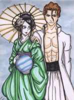 Aizen and Kyoka Suigetsu by StrawberryLoveAlways