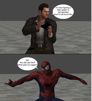 Injustice clash: Frank west vs Spider-man by Tony-Antwonio