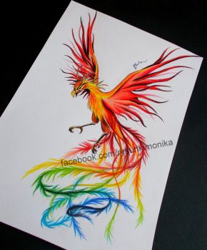 Phoenix- tattoo design by mydrawings11