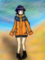 Hinata on the beach by evce