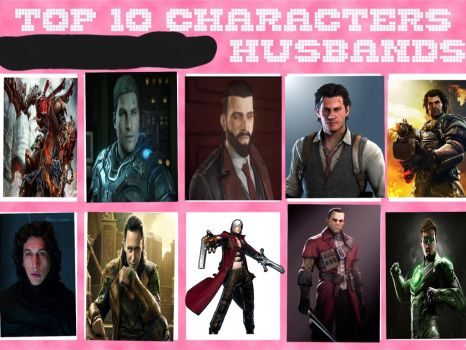 My top 10 Husbandos by ZombieLover93