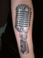 mic check by justinstattoos