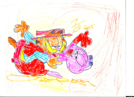 Garfield and Arlene Tango 2015 Brighter color by sb12933