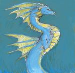 Dignified Blue Serpent by LinmirianJoyrex