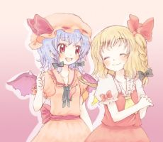 Remilia and Flandre by Lady-LightS