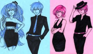 Blue and Pink by The-Jamel-Camel
