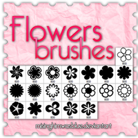 Flowers - BRUSHES by misinghimwasblue